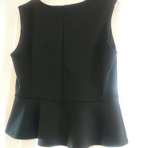 New York & Company Tops - New York & Company black peplum hem top sleeveless
